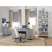 Osborne - Executive Desk - Timeless Oak/gray Skies Finish Product Image