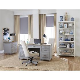 Osborne - Executive Desk - Timeless Oak/gray Skies Finish