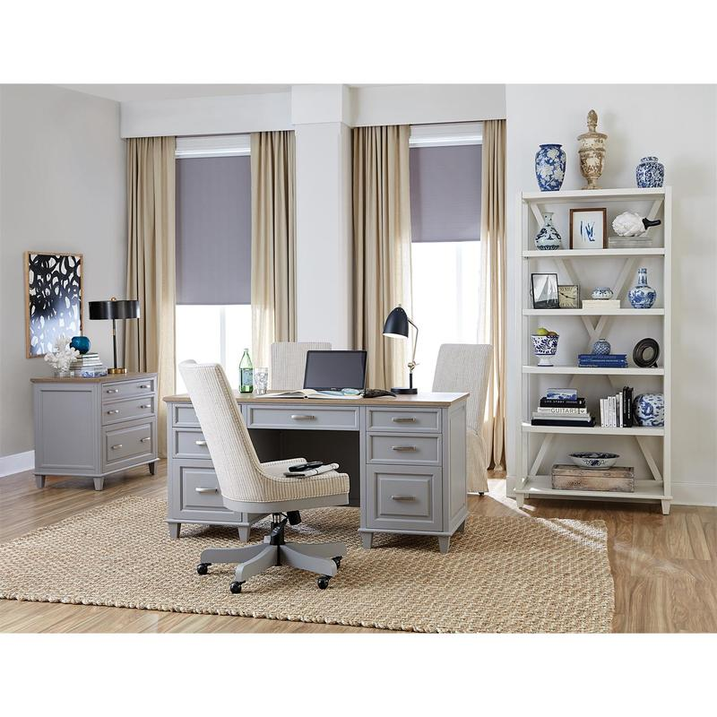 See Details - Osborne - Lateral File Cabinet - Timeless Oak/gray Skies Finish