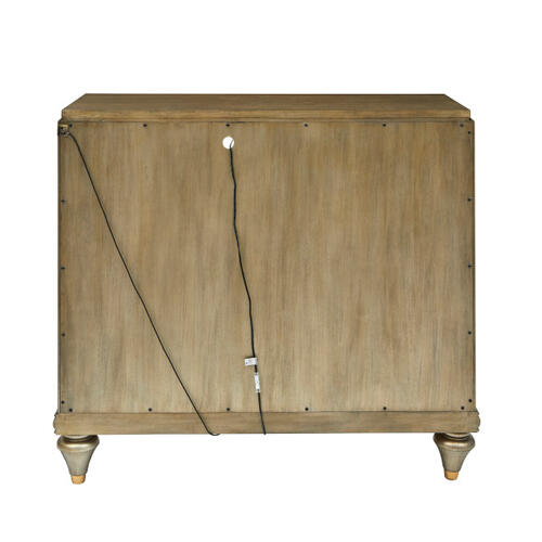 Accentrics Home - Two Door Accent Chest with Pierced Gold Leaf Doors