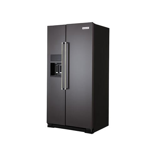 22.6 cu ft. Counter-Depth Side-by-Side Refrigerator with Exterior Ice and Water and PrintShield™ finish - Black Stainless Steel with PrintShield™ Finish