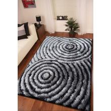 Soft Three Dimensional Polyester Viscose Hand Tufted 3D 313 Shag Area Rug by Rug Factory Plus - 5' x7' / Gray