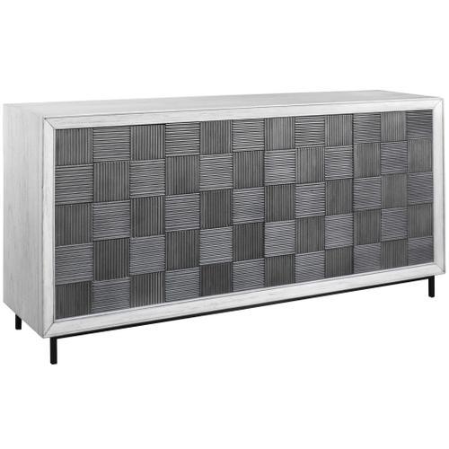 Checkerboard 4 Door Cabinet
