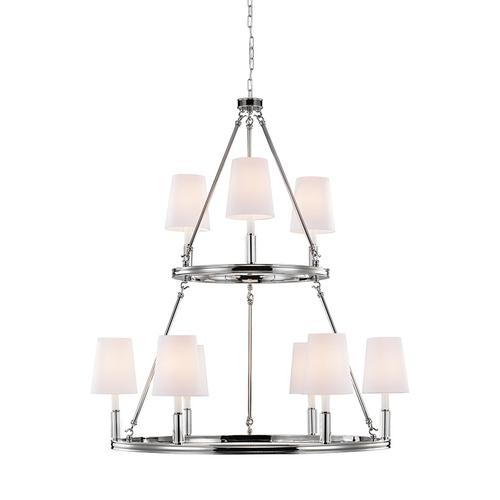 Lismore Large Chandelier Polished Nickel