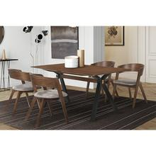 Laredo Jackie 5 Piece Walnut Dining Set