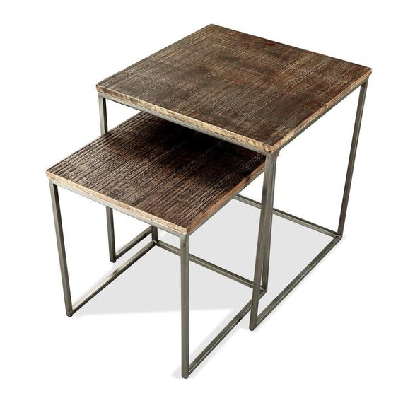 Riverside - Nesting Side Table - Brindled Fawn Finish
