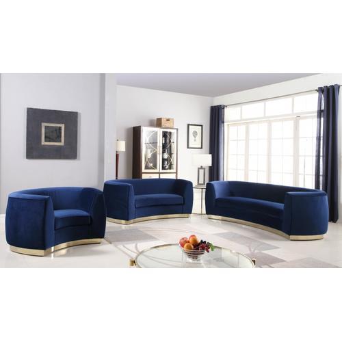 """Julian Velvet Chair - 50.5"""" W x 40.5"""" D x 29"""" H"""