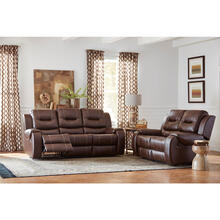 See Details - Hanover Rialto Faux-Leather Double Reclining Loveseat, Chocolate Brown, HUM001LS-BR