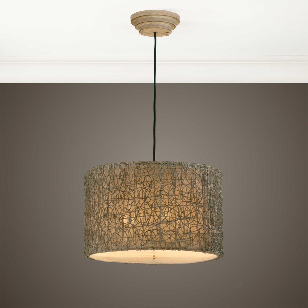 See Details - Knotted Rattan, 3 Lt Pendant