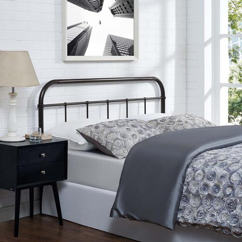 Serena Queen Steel Headboard in Brown