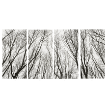 See Details - Black & White Tree Silhouette Wall Decor (4 pc. ppk.)