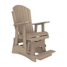 See Details - 2 Adirondack Balcony Glider Chair, Weatherwood