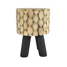 Shasta Stool Natural With Black Legs