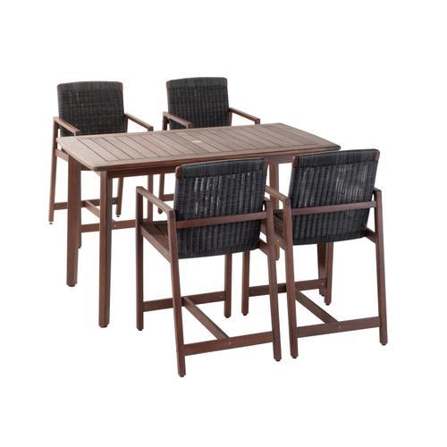 Thorburn FSC Eucalyptus and Wicker Gathering Arm Chair Sunbrella Cushion Inclusive