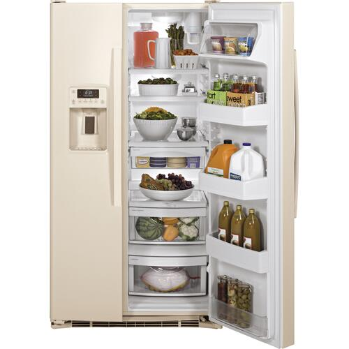 Product Image - GE® ENERGY STAR® 25.3 Cu. Ft. Side-By-Side Refrigerator