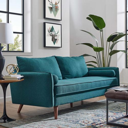 Modway - Revive Upholstered Fabric Sofa in Teal