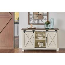 Sideboard with Sliding Barn Door