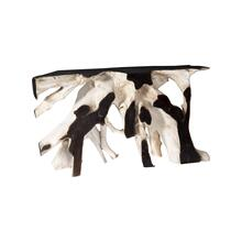 See Details - Teak Root Console Table Black Bleached