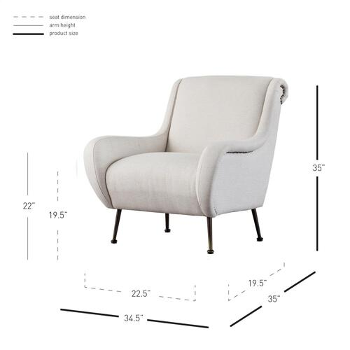 Marley Arm Chair, Cardiff Cream