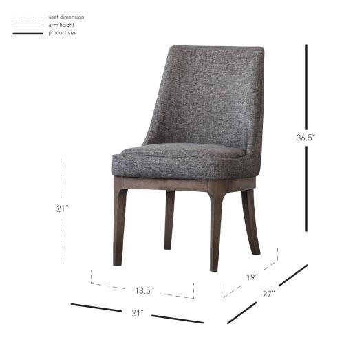 George Fabric Chair, Century Gray