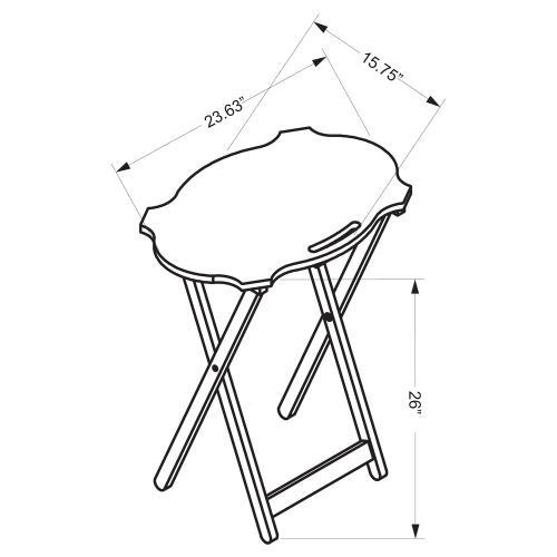 Folding Tray Table Set, Hazelnut and Black