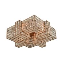 Lexicon 4-Light Flush Mount in Matte Gold with Clear Crystal