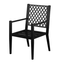 See Details - Metal Lattice Back Outdoor Dining Chairs