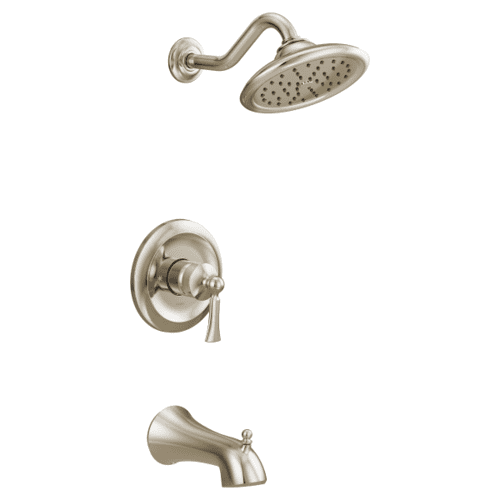 Wynford polished nickel m-core 3-series tub/shower