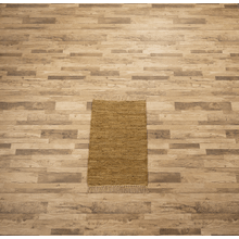 See Details - Tan Leather Chindi 2x3 Rug (Each One Will Vary)