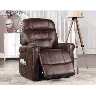 See Details - Prescott Power Lift Chair with Heat and Massage, Walnut