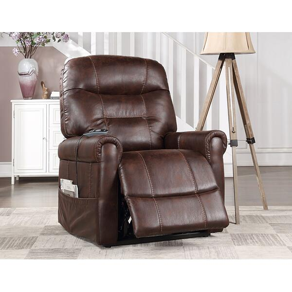 Ottawa Power Lift Chair with Heat and Massage, Walnut