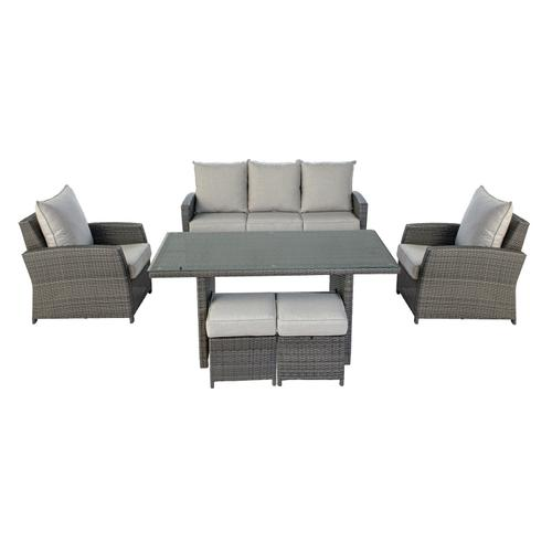 Northbury 6pc RTA Sofa Dining Set w/sunbrella cushions- 1 carton