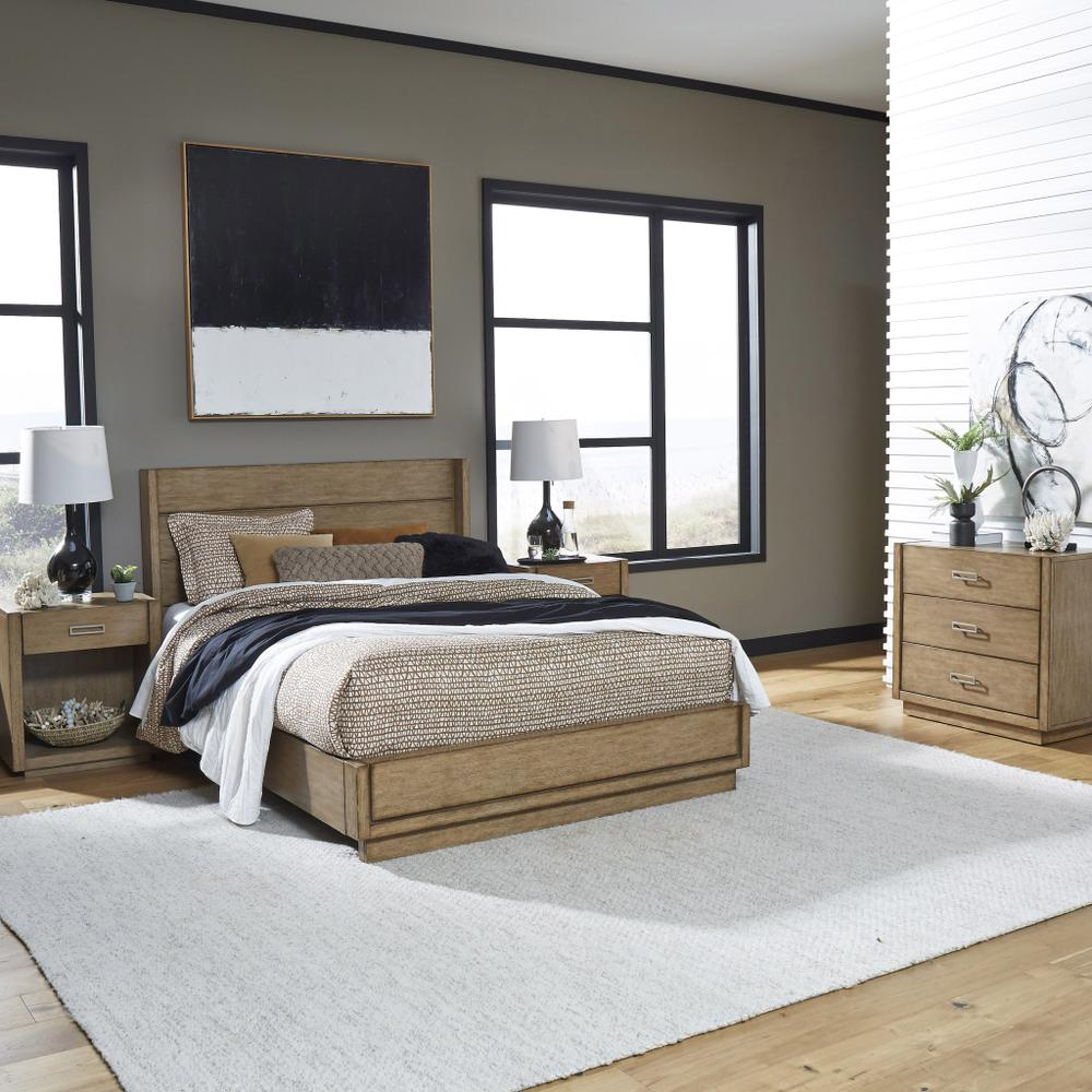 Montecito Queen Bed, Two Nightstands and Chest