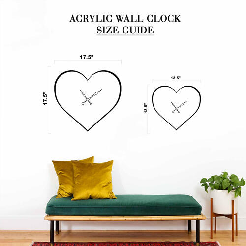 Grako Design - Purple Butterfly Heart Acrylic Wall Clock