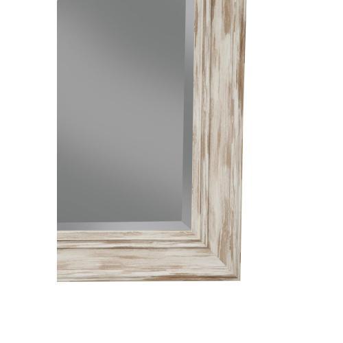 Farmhouse Antique White Wash Leaner Mirror - Antique White