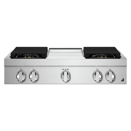 "36"" NOIR™ Gas Professional-Style Rangetop with Chrome-Infused Griddle"