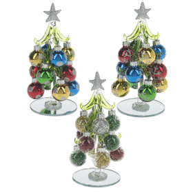 Christmas Tree With Ornaments - Sm. (12 set ppk.)