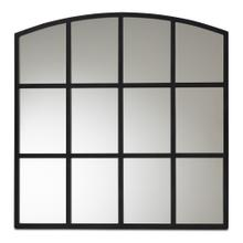 See Details - Baxton Studio Barrington Modern and Contemporary Black Finished Metal Accent Wall Mirror