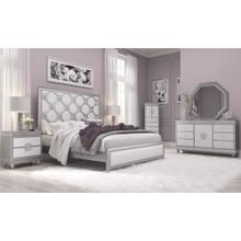 KYLIE-WHITE/SILVER BED