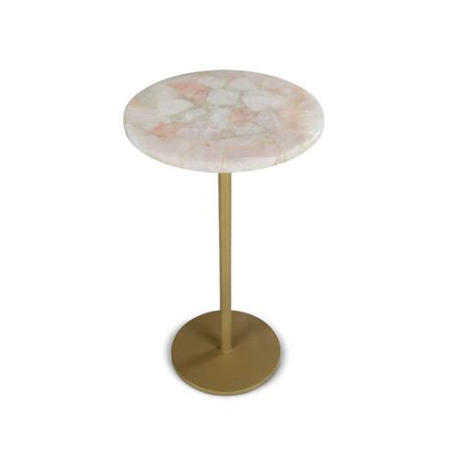 Rosie Rose Quartz Top Chairside End Table