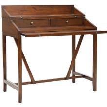 Wyatt Writing Desk W / Pull Out - Dark Teak