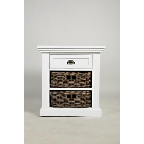 Natural Origins Chatham White End Table