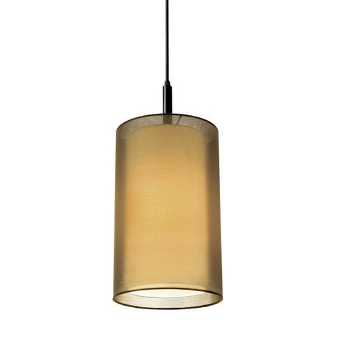 "Sonneman - A Way of Light - Puri Cylinder Pendant [Size=8"", Color/Finish=Black Brass w/Bronze Shade]"