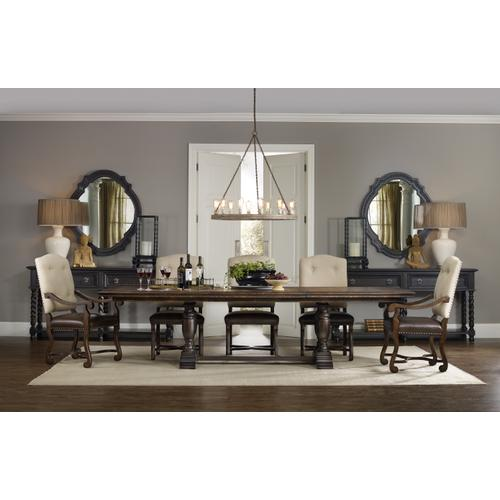 Treviso Trestle Dining Table with Two 18'' Leaves