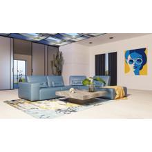 Accenti Italia Enjoy - Modern Italian Blue Leather Sectional Sofa