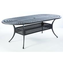 "Cobblestone 87"" x 42"" Oval Dining Table w/Umb hole"