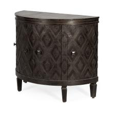 Lennon 39L x 19W Dark Brown 4 Door Demilune Accent Cabinet
