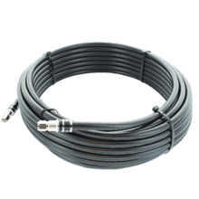 50 ft. Black RG11 Low-Loss Coax (F Male to F Male)