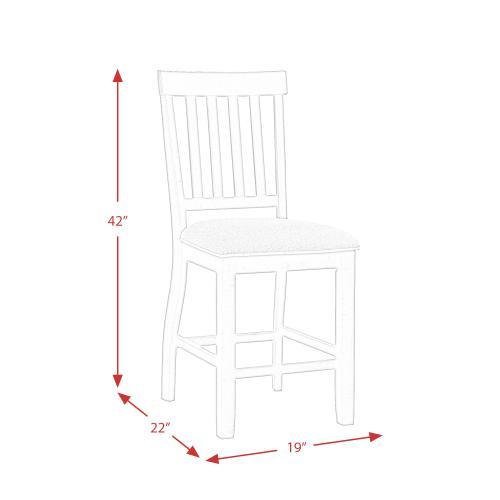 Stone Counter Slat Back Side Chair Set