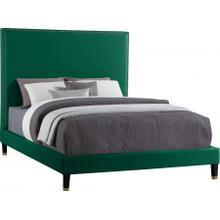 """Harlie Velvet Bed - 60.5"""" W x 81.5"""" D x 60"""" H"""